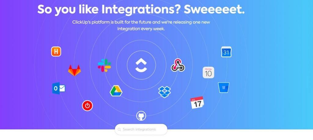 integrations ClickUp