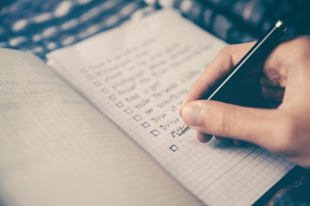 to-do list to increase productivity