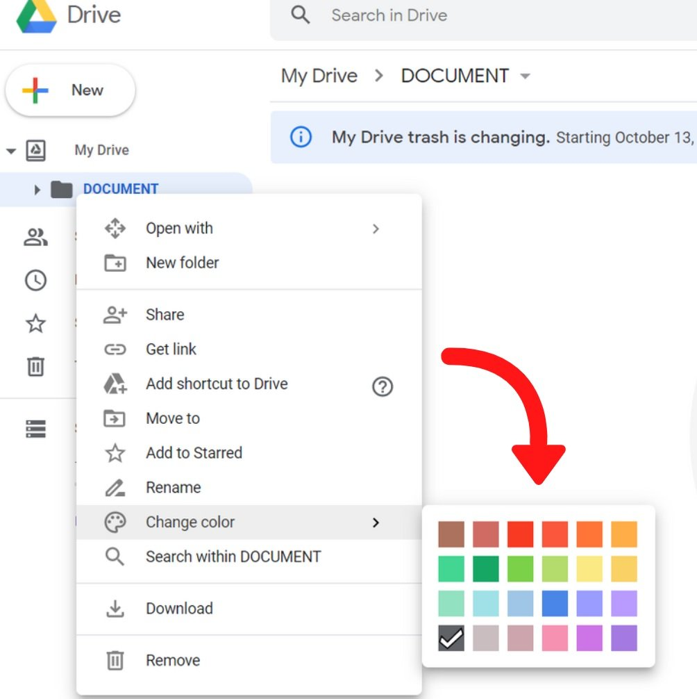 Chance color - Google Drive tips
