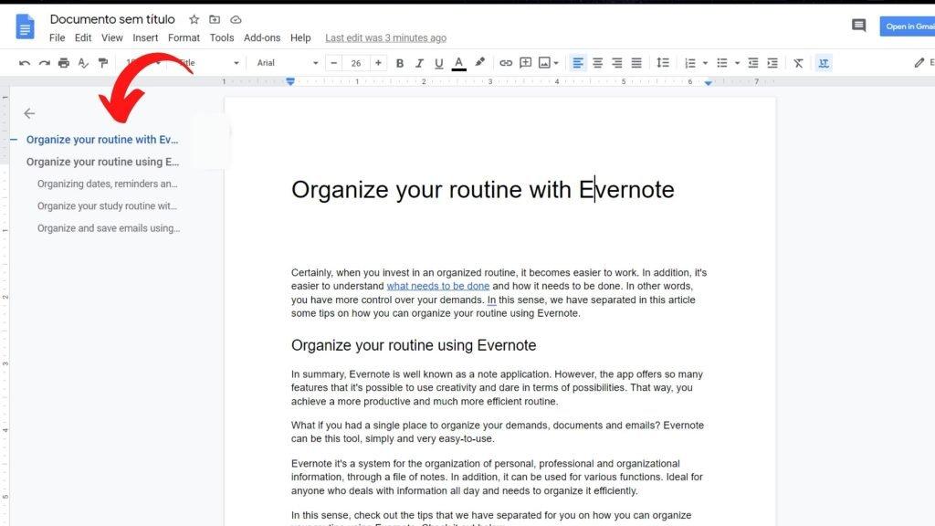 Organize texts from titles 2 - Google Docs Tricks