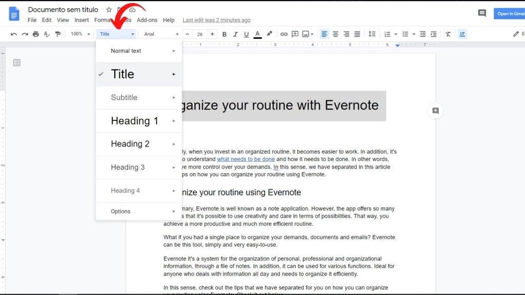 Organize texts from titles - Google Docs Tricks
