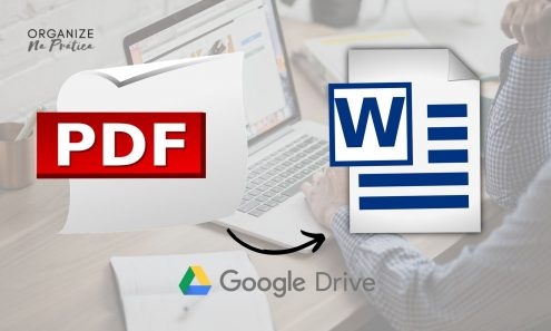 How to convert PDF to Word using Google Drive